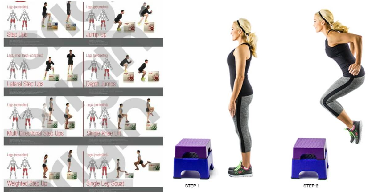Plyo Box Workout With 5 Body Toning Exercises - GymGuider com