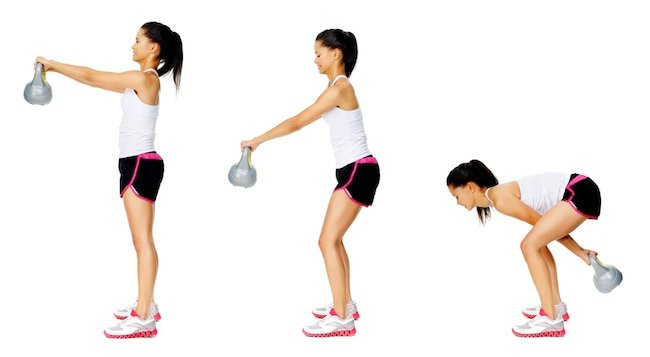 Total Body Workout With 7 Kettlebell Exercises To Challenge Your Muscles To Tone And Strengthen
