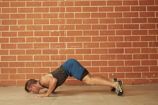Gain total body strength with these 17 push up variations - Dive bomber push up ...