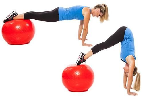 Stability Ball Workout For Strong Core Abs Amp Legs