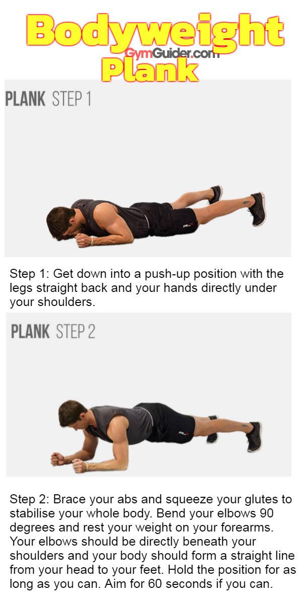 Bodyweight plank gymguider