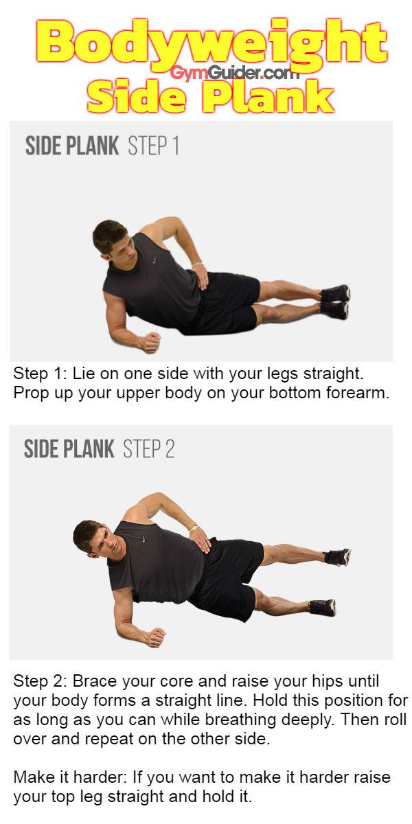 Bodyweight side plank gymguider