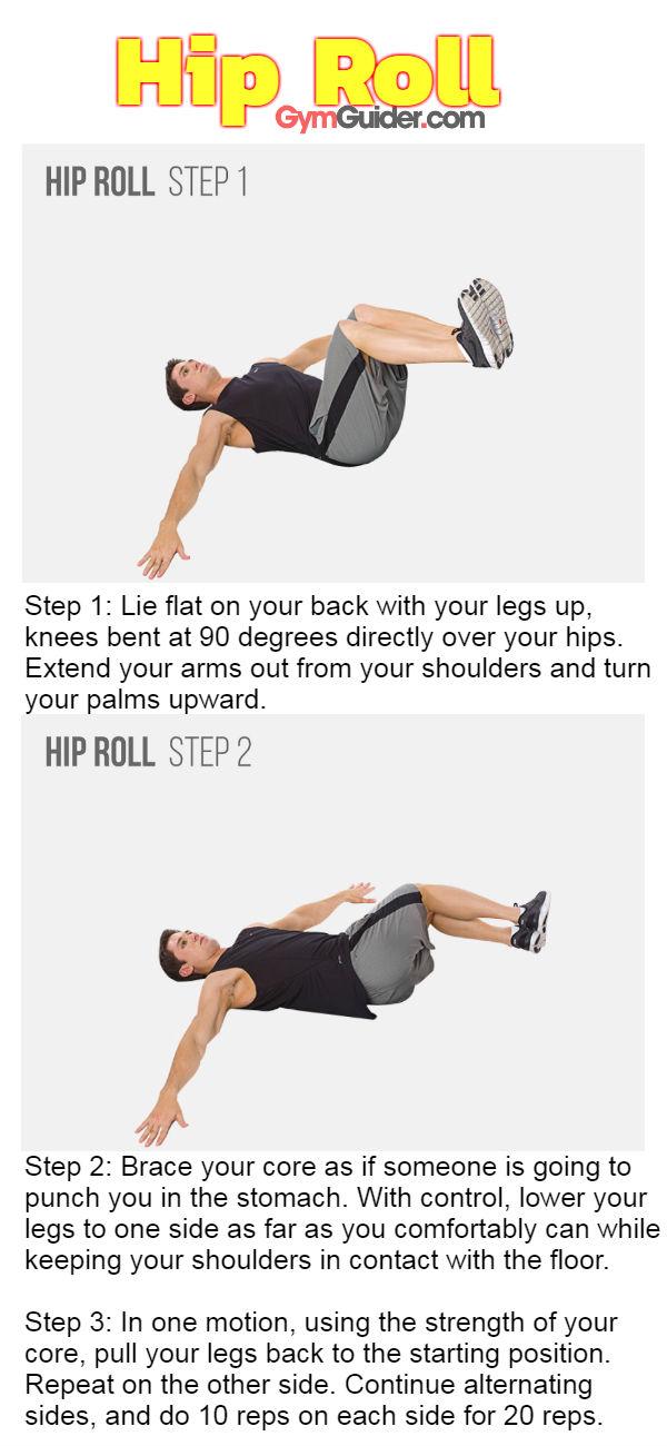 Hip roll gymguider