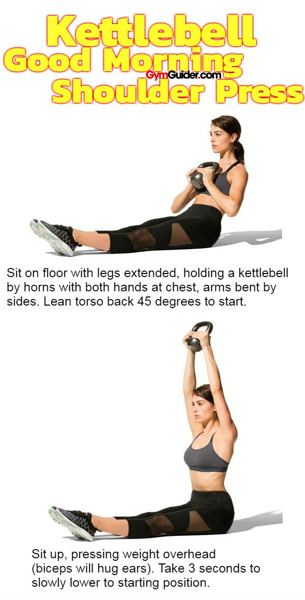 Kettlebell Good Morning Shoulder Press