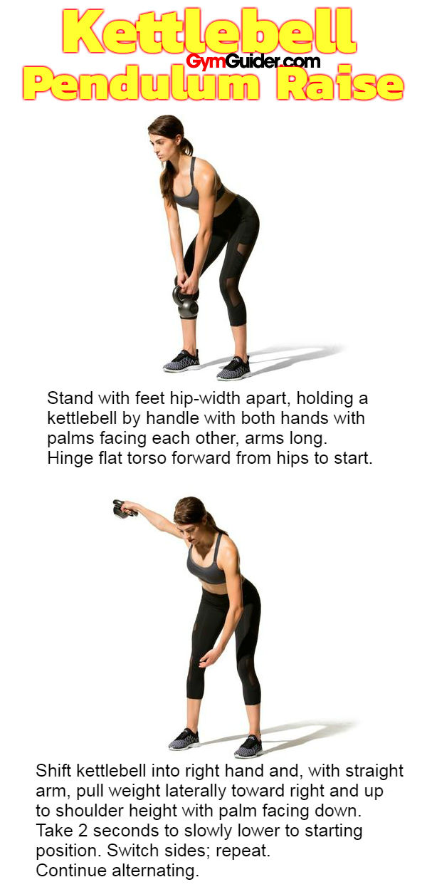 Kettlebell Pendulum Raise shoulder back