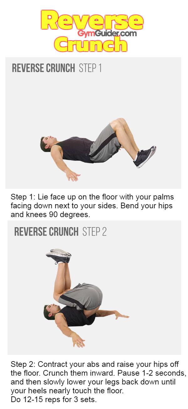 Reverse crunch gymguider