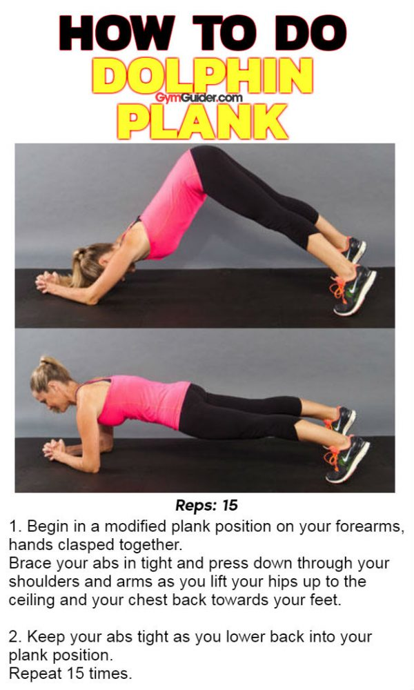 Dolphin Plank abs obliques back and glute strengthen and define body-weight