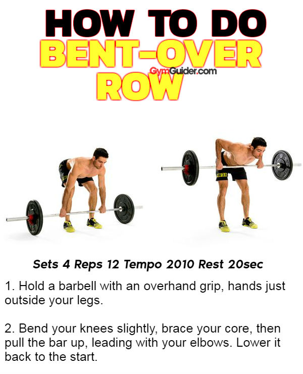 How to do bent-over row