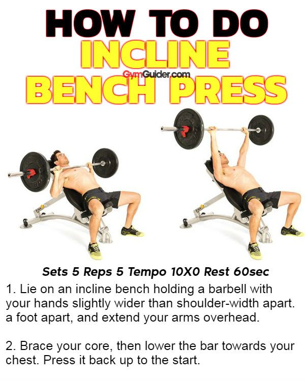 How to do incline bench press