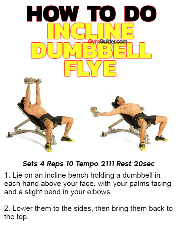 How to do incline dumbbell flye