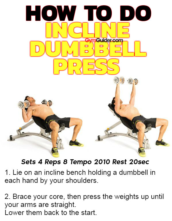 How to do incline dumbbell press