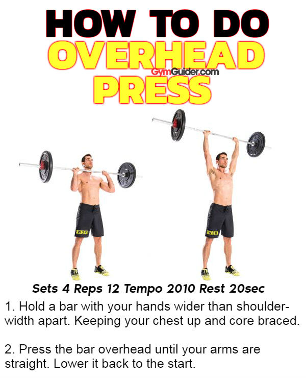 How to do overhead press