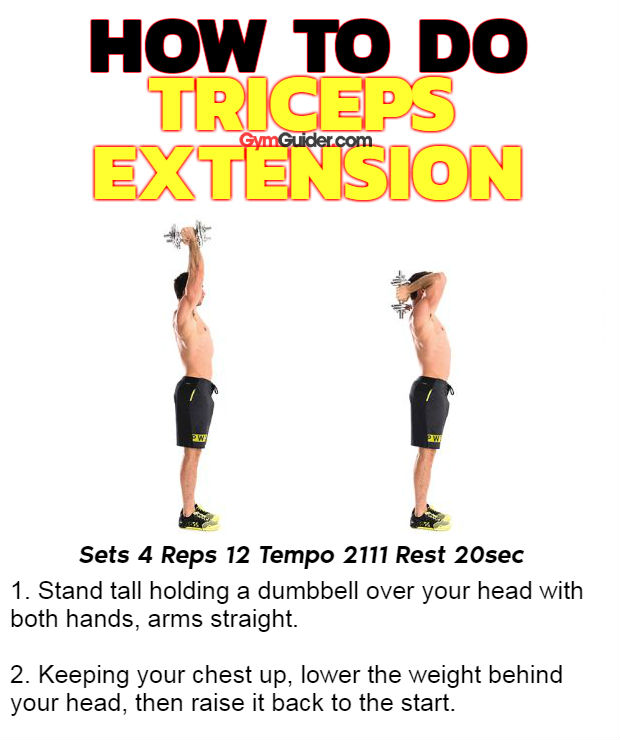 How to do triceps extension