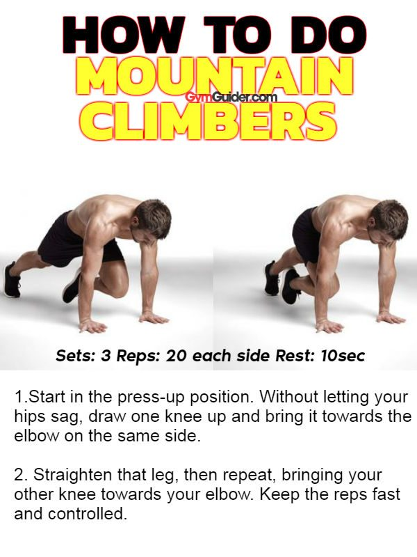 Mountain Climbers sixpack