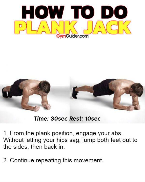 Plank jack sixpack