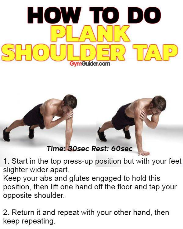 Plank shoulder tap sixpack