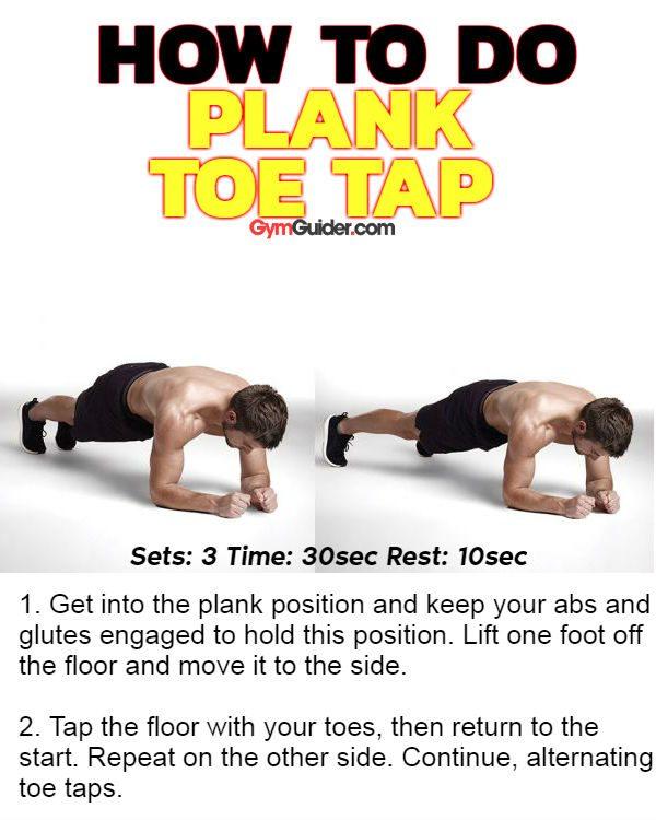 Plank toe tap sixpack