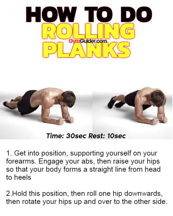 Rolling planks benefit your core back sides and posture using bodyweight
