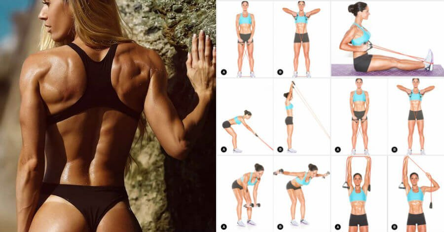 Seriously Sculpted Strong Back workout for women with exercises