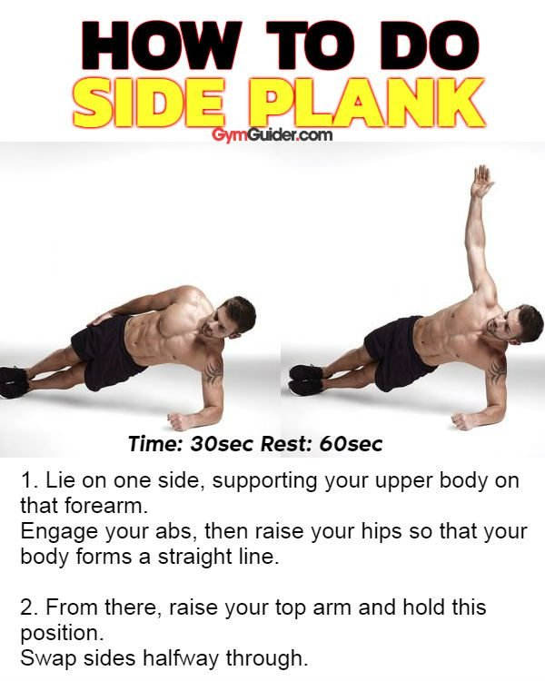 Side plank sixpack