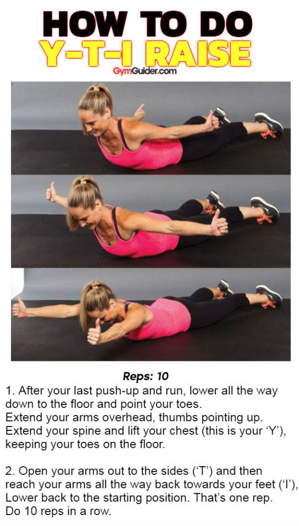 Y-T-I Raise great core work using own bodyweight for back glutes and abs