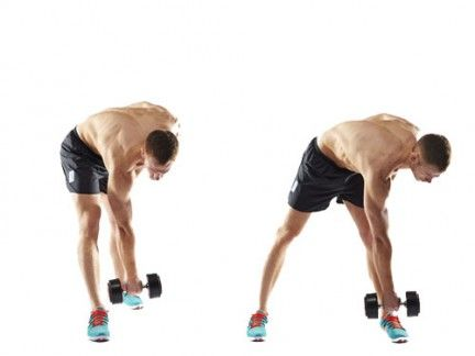 Dumbbell forward hinge to lunge