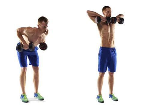 Dumbbell row to high pull