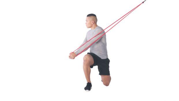 Kneeling horizontal chop