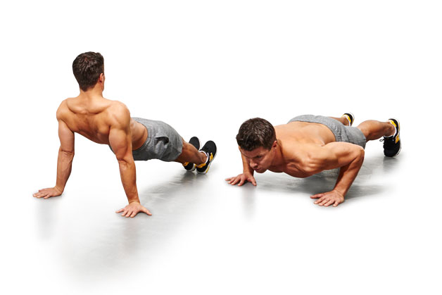Around the world push-ups
