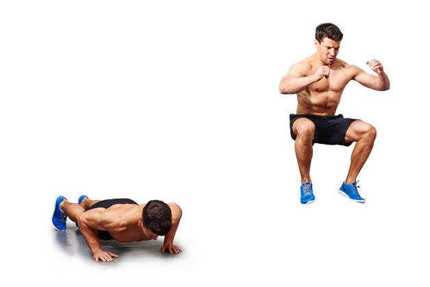 Burpee tuck jumps