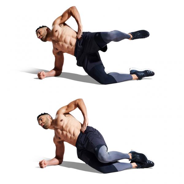 Half-Plank Hip Raise