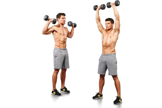 Jumping jack dumbbell press