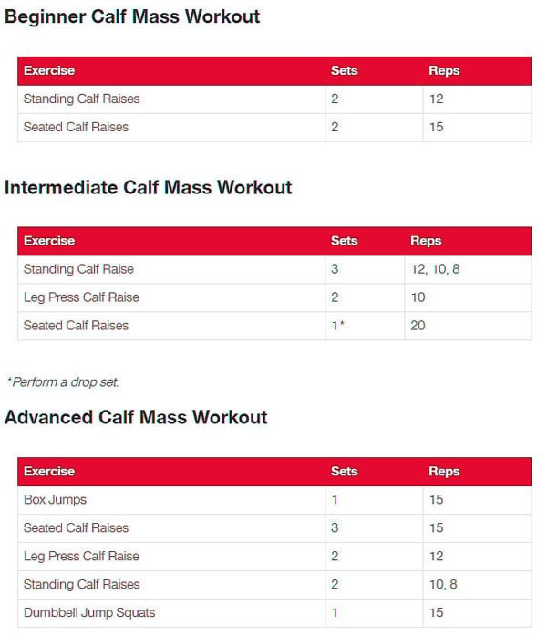 Calves Workout Routine